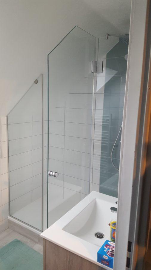 Paroi de douche en verre feuillet - Paroi de douche en verre sur mesure ...