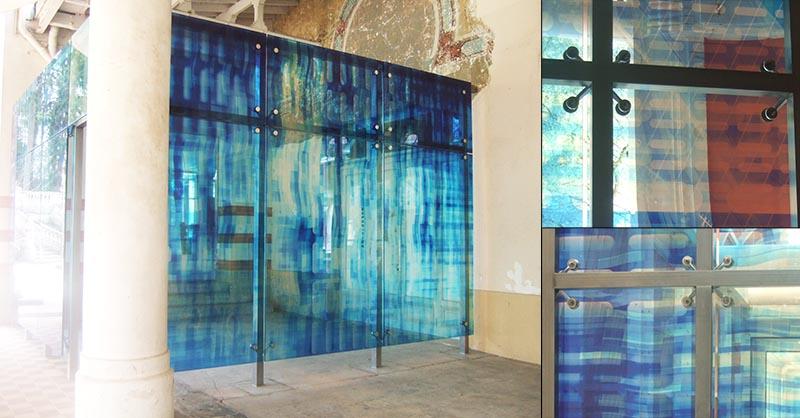 fixation pour façade en verre feuilleté de sécurité