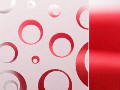 Verre dépoli acide bulles