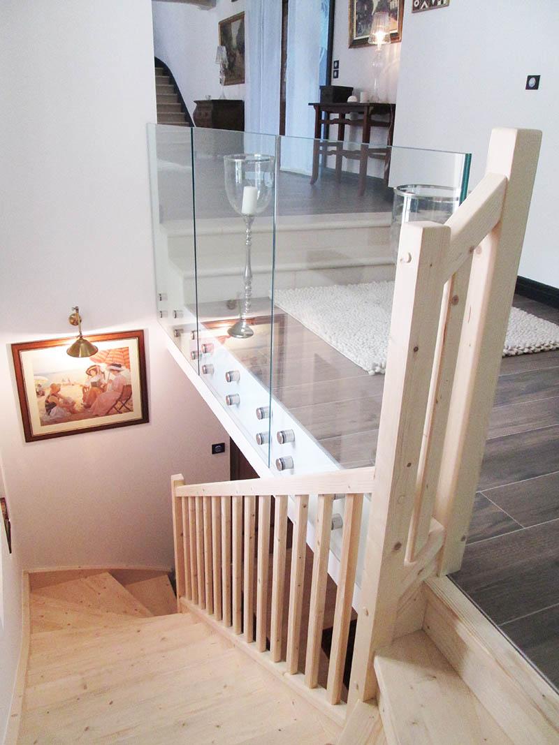 balustrade en verre feuillet tremp. Black Bedroom Furniture Sets. Home Design Ideas
