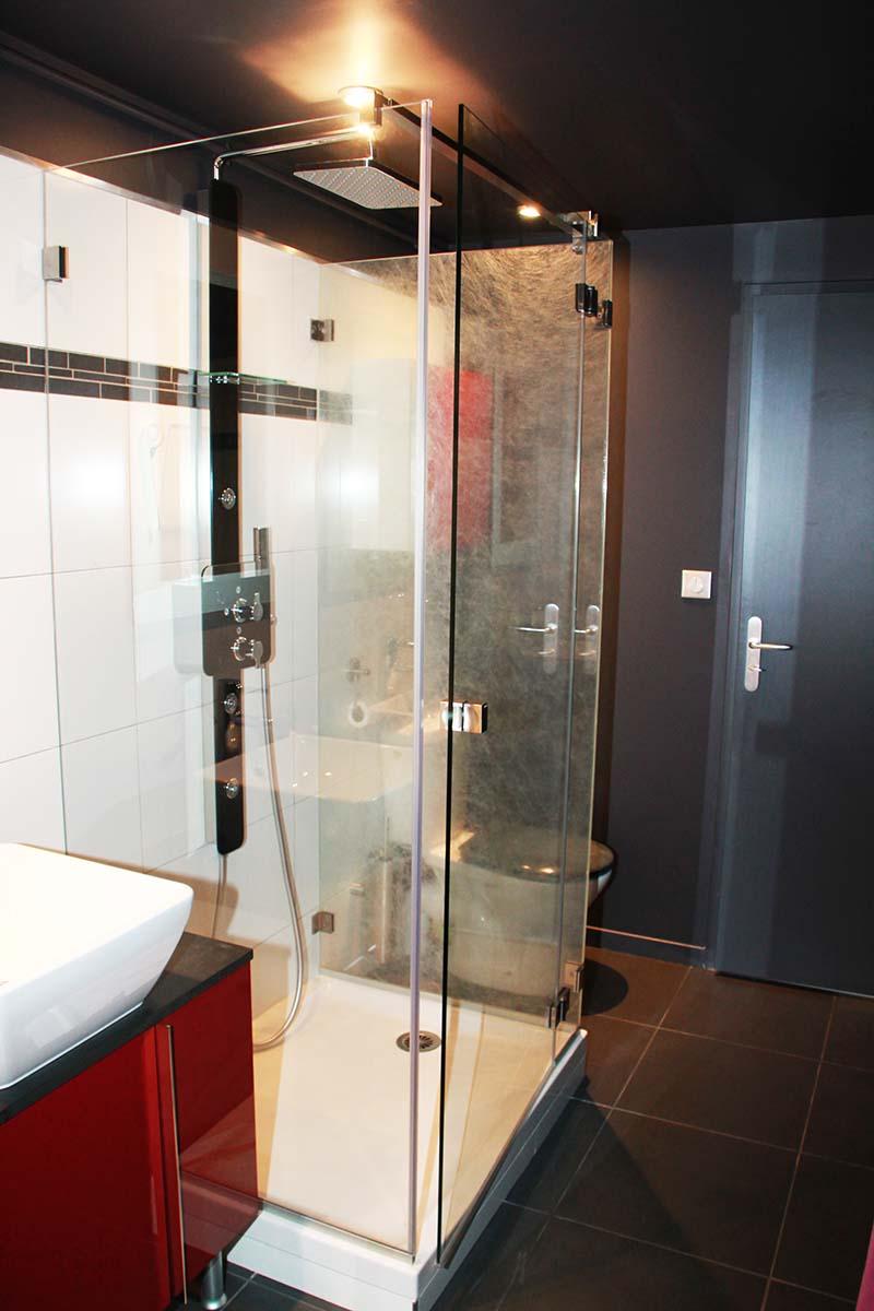 Paroi de douche en verre feuillet - Fabriquer pare baignoire ...