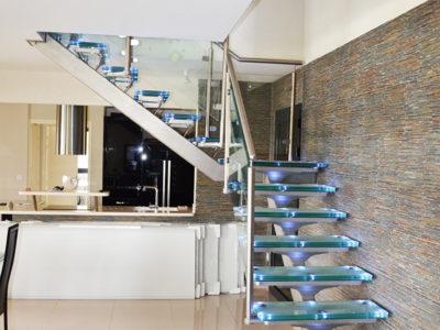 escalier verre leds escalier en verre feuillete avec leds escalier en verre insertion leds