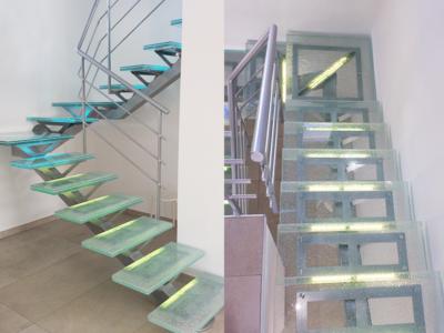escalier verre sur mesure escalier en verre
