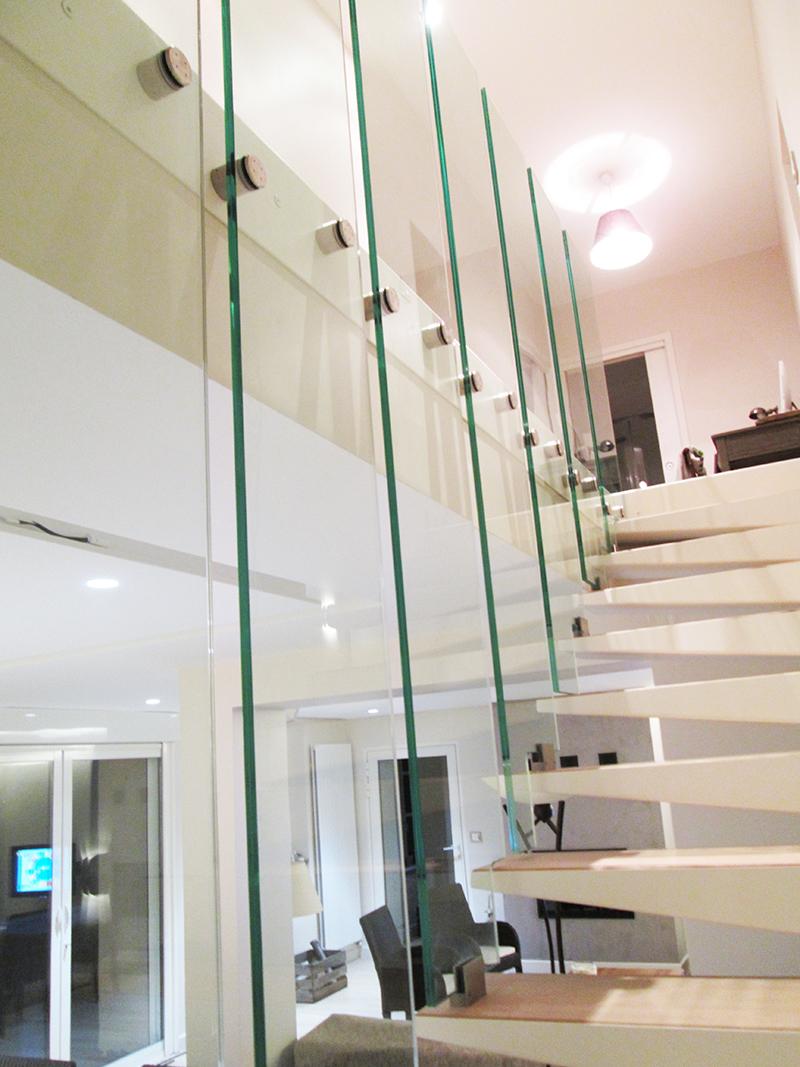 garde corps verre escalier verre. Black Bedroom Furniture Sets. Home Design Ideas