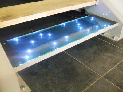 marche escalier verre led verre escalier verre
