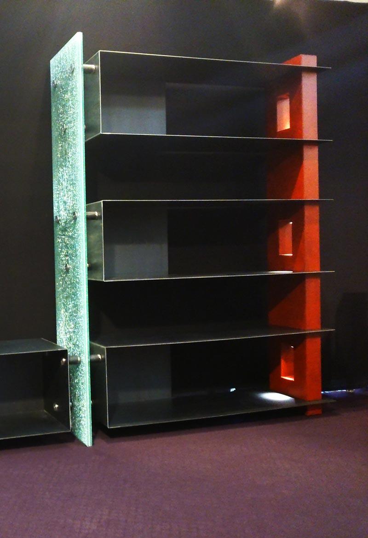 tablette tag re en verre. Black Bedroom Furniture Sets. Home Design Ideas