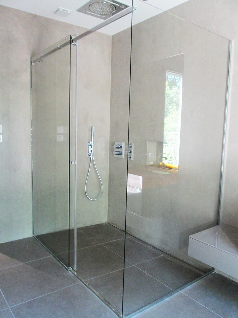 Pare douche en verre personalis - Porte douche en verre ...