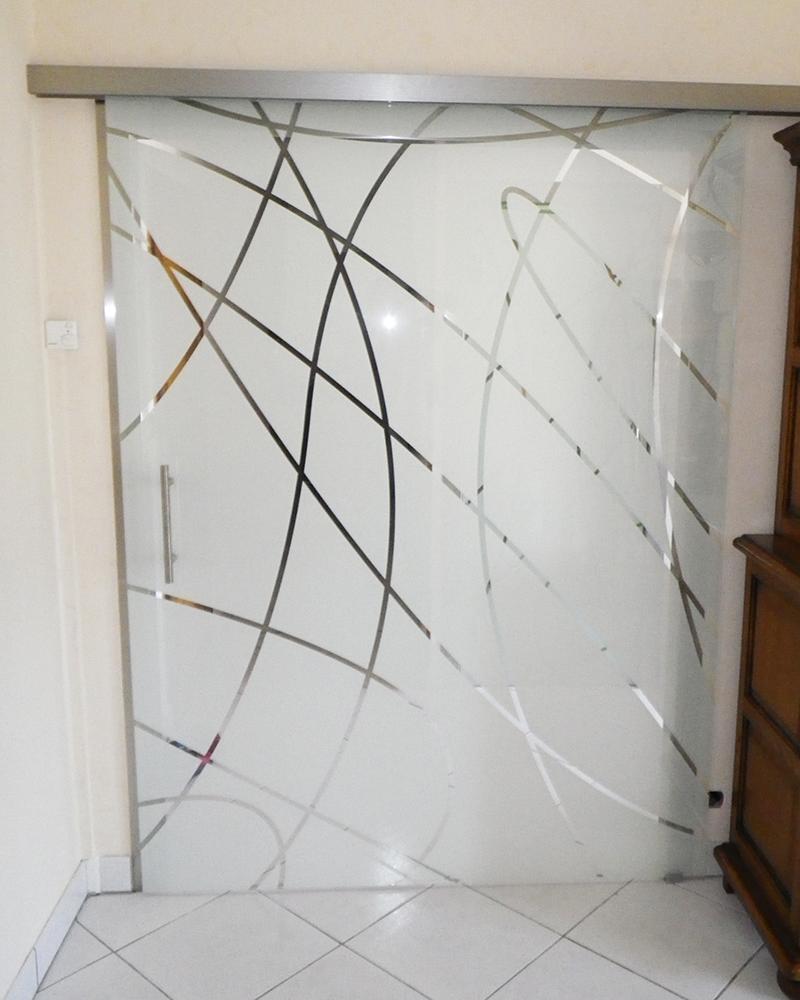 Porte en verre sur mesure porte coulissante en verre - Porte coulissante en verre sur mesure ...