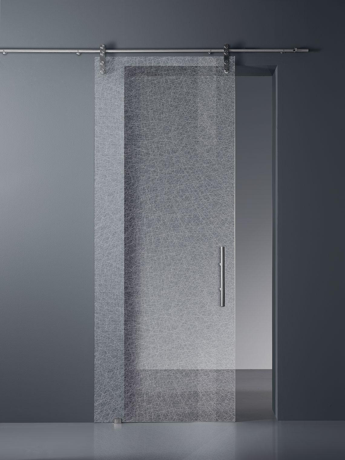 porte vitrée, porte coulissante en verre, porte en verre sur mesure, verre securit trempé imprimé
