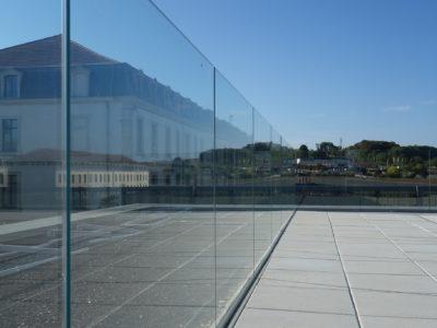 verre feuillete trempe pour garde corps en verre