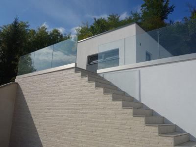 rambarde en verre sur mesure pour escalier
