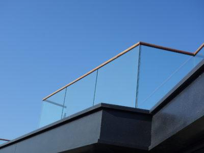 balustrade en verre, garde corps en verre extérieur, garde corps vitré