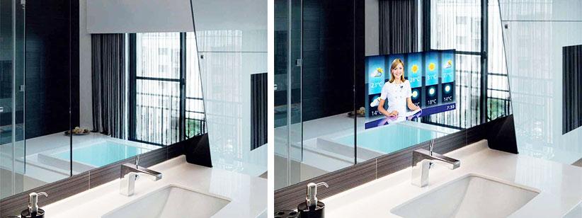 miroir télévision, miroir télé, miroir pour télévision, télévision effet miroir
