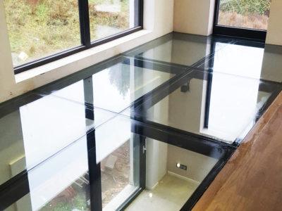 plancher en verre feuilleté de sécurité