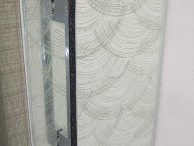 porte de douche en verre feuilleté décoratif