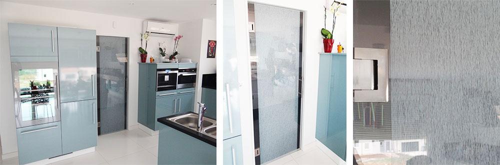 porte en verre feuilleté décoratif vitrage feuilleté décoratif