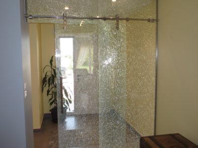 porte coulissante en verre sur mesure