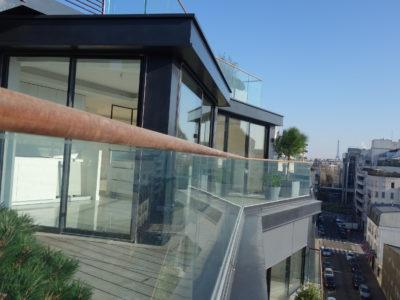 prix garde corps verre feuillete trempe pour balustrade verre exterieur