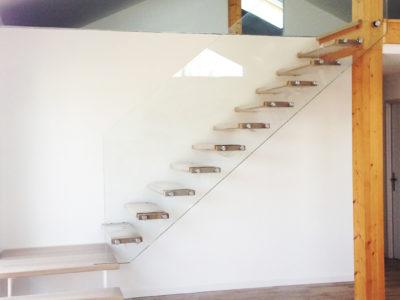 rambarde en verre feuilleté pour escalier