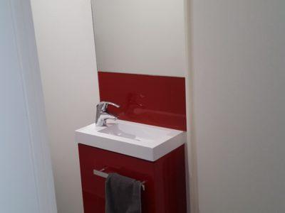 Vasque de salle de bain en Verre Laqué sur mesure