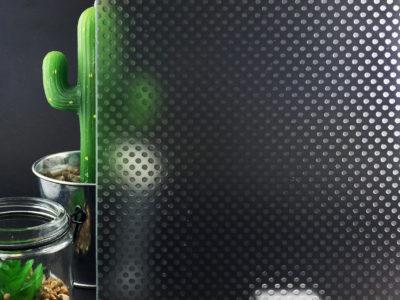 Verre Anti-Déparant Imprimé Pixel Mat