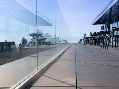 garde corps en verre feuillete de securite