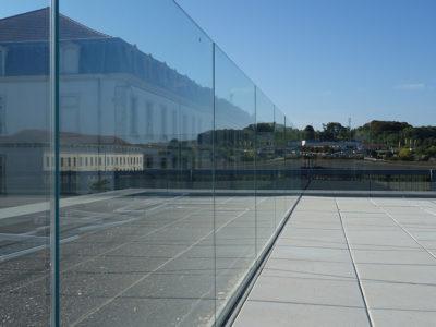 rambarde de sécurité en verre