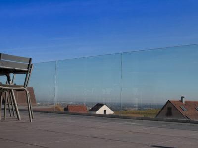 rambarde en verre profil garde-corps verre