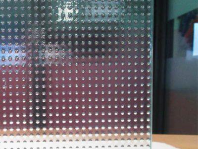 verre sécurit imprimé pour cloison en verre