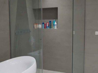 paroi de douche en verre tremp securit sur mesure