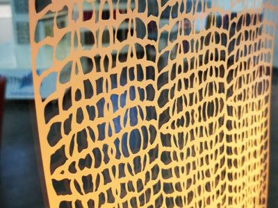 miroir sable avec eclairage led