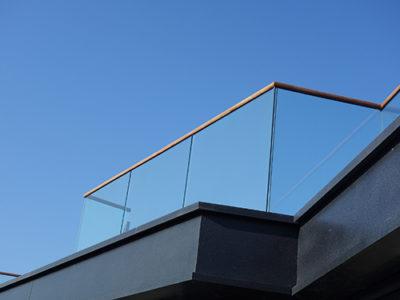 balustrade en verre exterieur