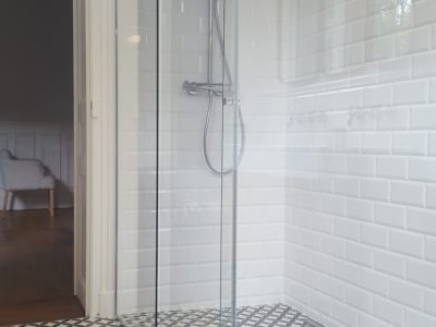 douche italienne tout verre