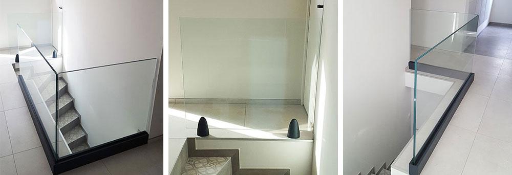 garde-corps en verre pour escalier
