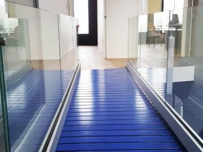 garde corps en verre interieur