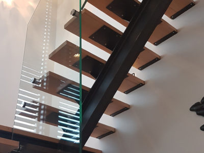 garde corps en verre pour escalier