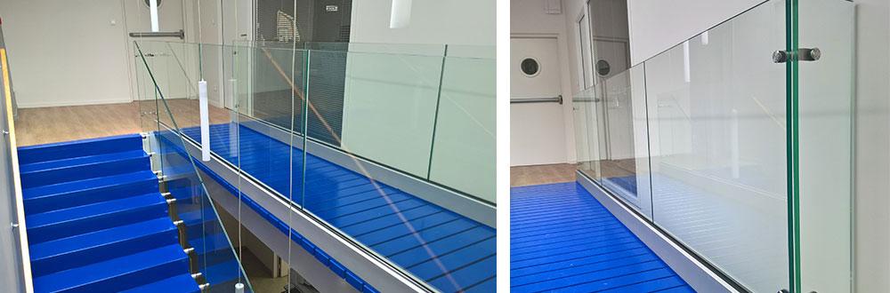 rambarde en verre pour escalier intérieur