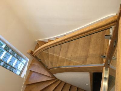 garde fou en verre pour escalier