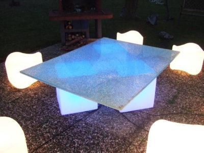 mobilier en verre