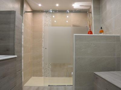paroi douche verre sur mesure