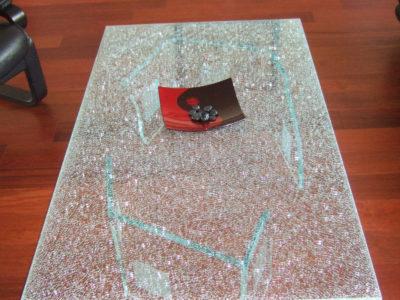 plateau de table en verre deco