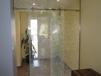 porte coulissante en verre interieur
