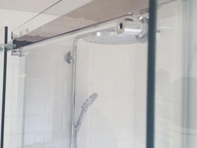 porte de douche coulissante en verre
