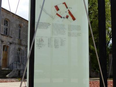 signaletique en verre sur mesure avec impression image