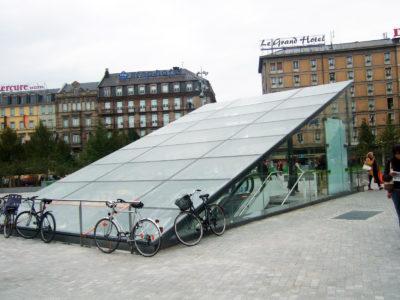 toit en verre feuillete de securite gare strasbourg