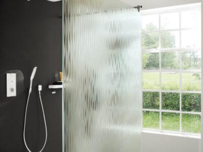 verre de securit imprime design pour pare douche sur mesure