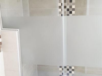 vitre de douche verre decoratif sable
