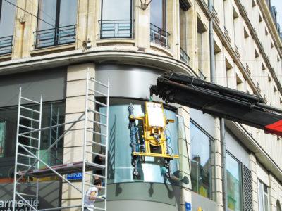 remplacement vitrine bombe grande dimensions