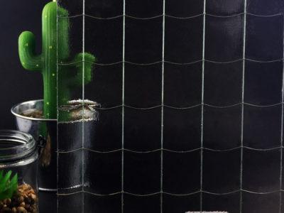 verre decoratif grandes mailles