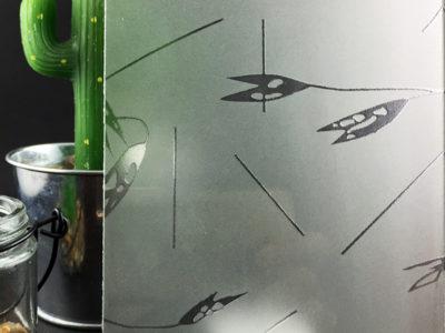 verre imprimé avoine blanc